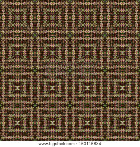 Beige symmetry seamless ethnic indian boho design