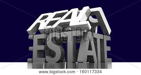 real estate words background 3d rendering