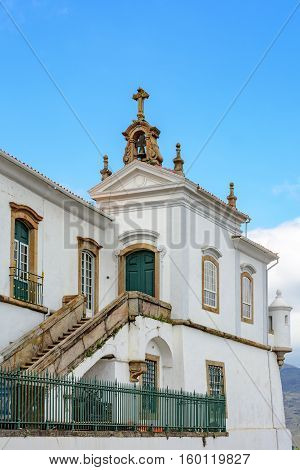 Architectural details of a church in Ouro Preto Minas Gerais