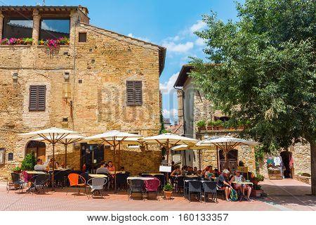 Town Center Of San Gimignano, Italy