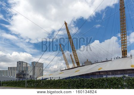 LONDON, ENGLAND - JUNE 17 2016:  The O2 Arena at Greenwich, London, England, Great Britain