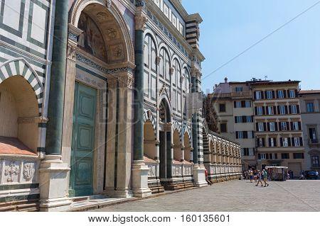 Basilica Santa Maria Novella In Florence, Italy