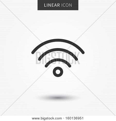 Wifi icon vector illustration. Isolated wifi hotspot symbol. Internet signal graphic design. Wireless connection concept pictogram. Wifi network line symbol. Wireless network outluine element.