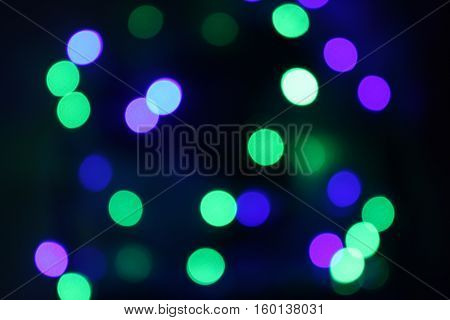 Background With Natural Bokeh And Bright Festive Background