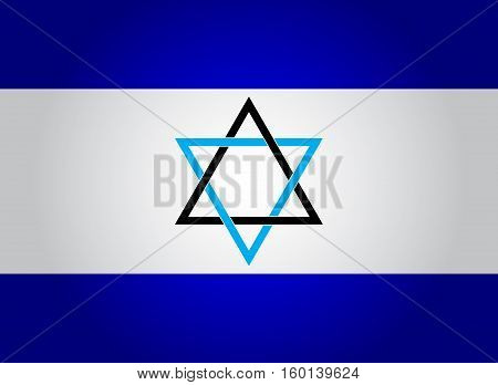 Flag of Israel. Vector. Accurate dimensions, element proportions and colors