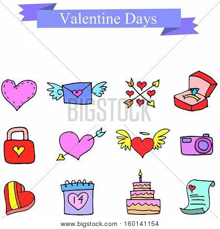 Valentine day element collection stock vector illustration