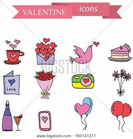 Illustration of valentine element stock vector art