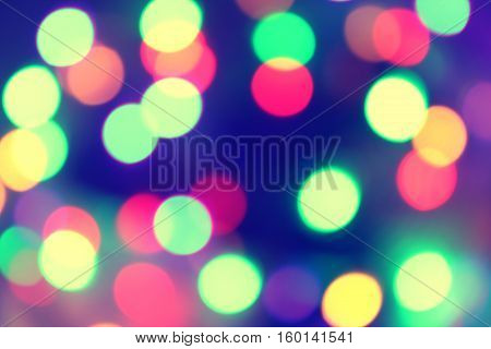Festive Background Bokeh Bright Vintage Magic Background With Color Stock