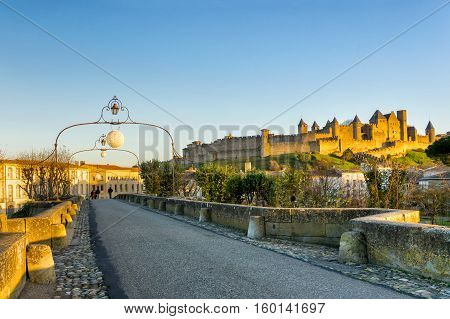 Cathedral Saint Michel of Carcassonne in sunshine day France