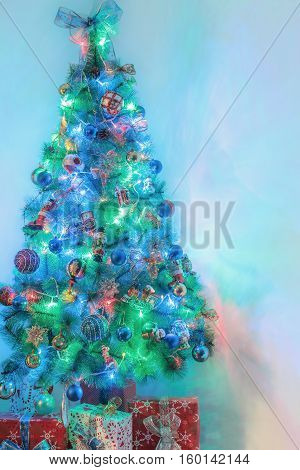 New Year treegifts snowman bokehchristmas background design tree