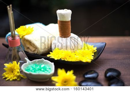 Spa treatment and massage Thailand soft and select focus
