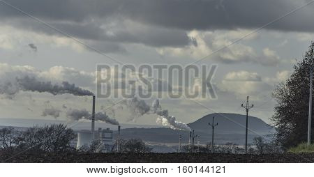 Melnik Power Station And Rip Hill In Wind Day