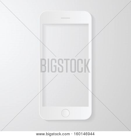phone mobile blank screen vector drawing paper style