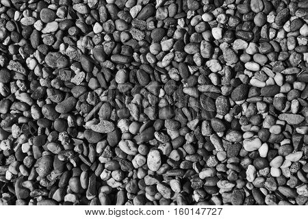 The black and white round stone background