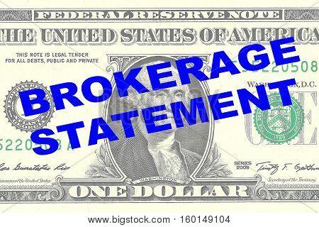 Brokerage Statement Concept