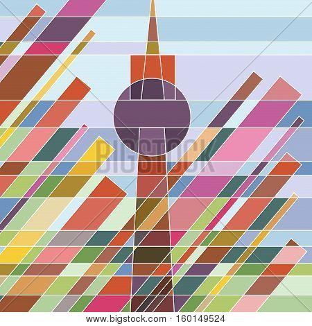 Abstract shapes geometric artwork Alexander Platz Berlin