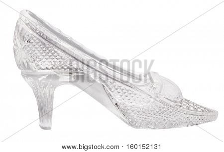 glass shoe isolated on white background