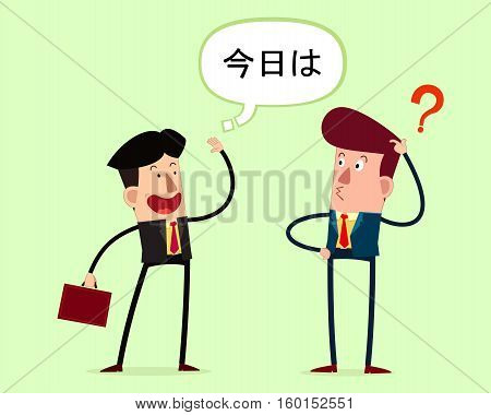 young businessman have a meeting his foreign partner