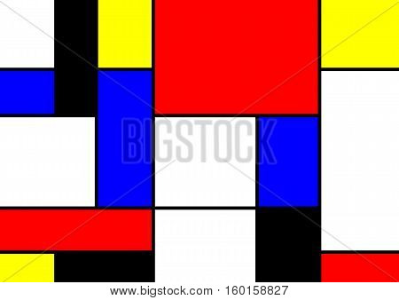 abstract geometric shapes colorful vector pattern illustration