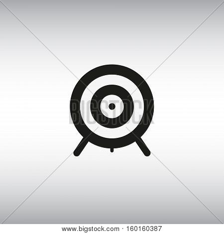 Aim isolated vector sign. Aim vector flat illustration. Target vector symbol.