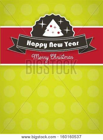 Christmas background design with ribbon and area for your text