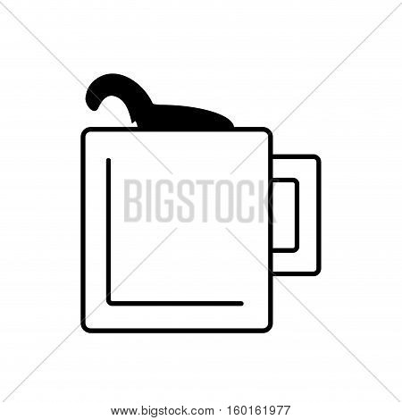 mug capuccino coffee icon outline vector illustration eps 10
