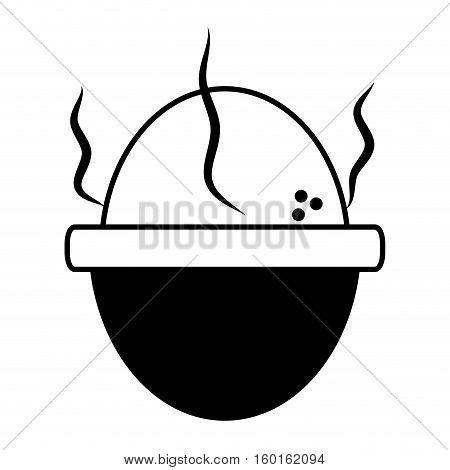 soft boiled egg breakfast design outline vector illustration eps 10