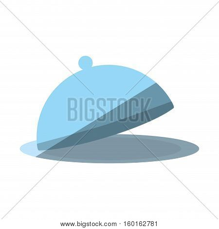 cartoon dome kitchen food service shadow vector illustration eps 10