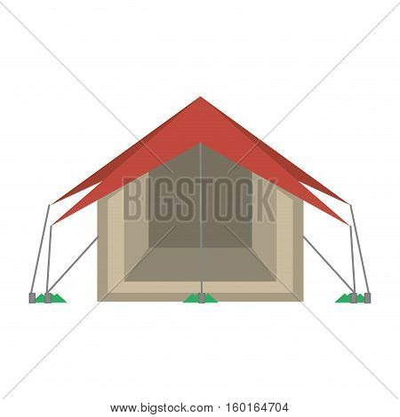 tourism tent camping excursions vector illustration eps 10