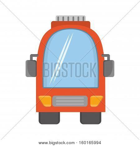 orange bus vehicule land transport travel vector illustration eps 10