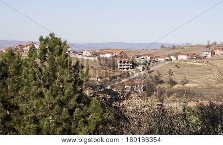 Edge of town Kavadarci, Macedonia. Tikvesh wine region. The heart of Macedonia wine industry.
