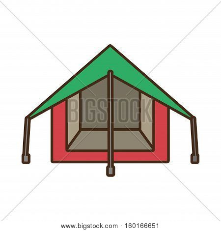 tourism tent camping excursions green and pink vector illustration eps 10