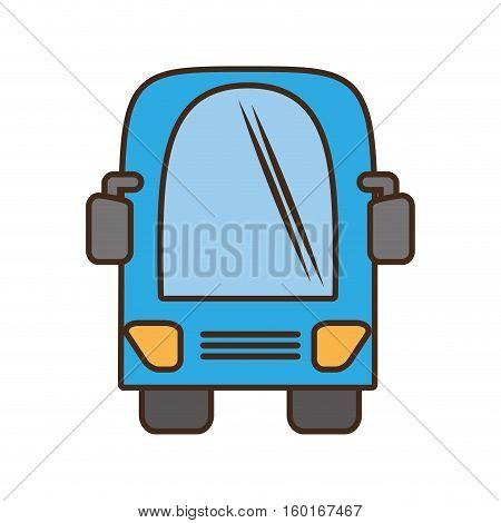 bus vehicule land transport travel vector illustration eps 10
