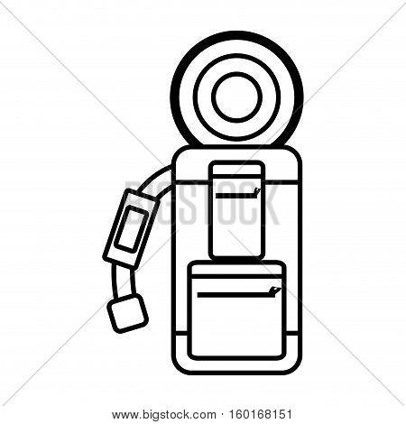 outline packback slepping bag tourist vector illustration eps 10