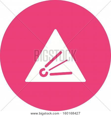 Explosive, chemical, risk icon vector image. Can also be used for warning caution. Suitable for use on web apps, mobile apps and print media.
