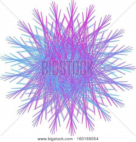 Abstract decorative spirograph circular colorful element for design.