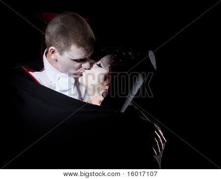 Vampire Couple Kiss