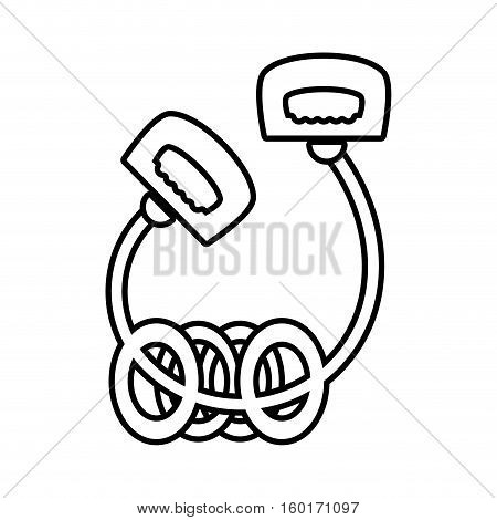 jump rope le with rings sport vector illustration eps 10