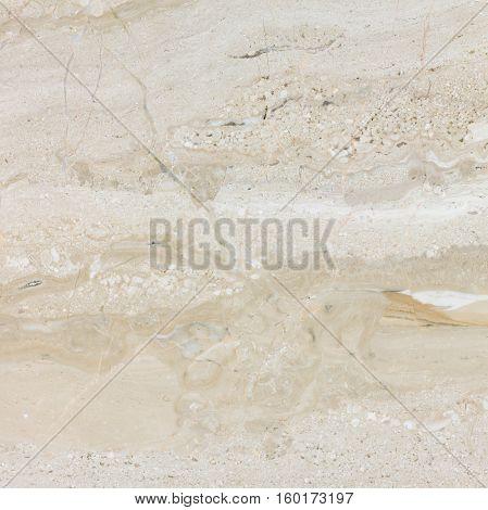 Natural biege polished Italian Daina Reale marble texture.