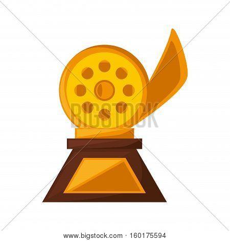 reel film trophy awards golden vector illustration eps 10
