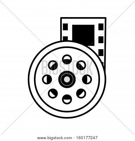 reel film movie wheel icon outline vector illustration eps 10
