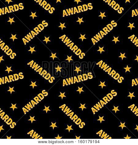 Awards Seamless Pattern Black Back
