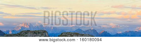 Sunrise in the mountains, Italian Alps, Dolomites, South Tyrol, Italy