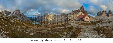 View Rifugio Locatelli, Dolomites, South Tyrol, Italy