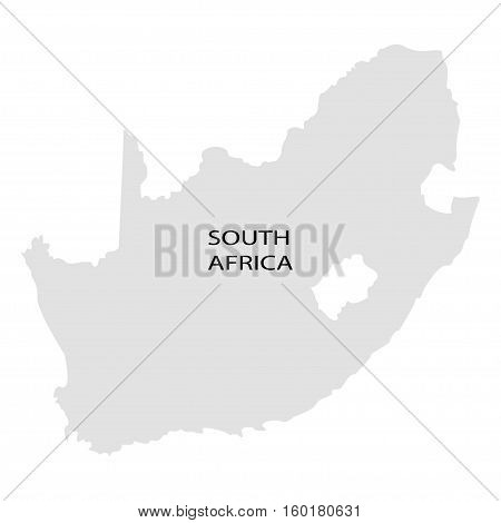 Territory of South Africa on a white background