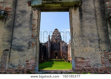 Phra Si Mahathat temple Lopburi Province in Thailand