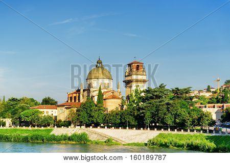 View Of The Church Of San Giorgio In Braida, Verona, Italy