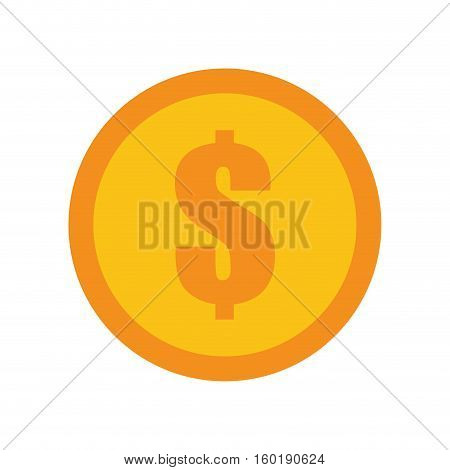 coin dollar money currency icon vector illustration eps 10