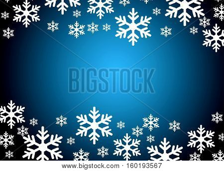 snowflakes vector illustration art with colored background
