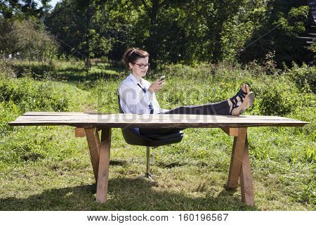Business Woman Taking A Rest From Everyday Life